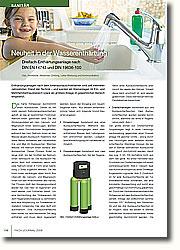 HYGIENEGERECHTE KONSTRUKTION: Die neuen Enthärtungsanlagen entsprechen DIN EN 14743 und DIN 19636-100