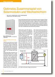 Bereits in der Planungsphase einer Solaranlage die Besonderheiten von Modulen und Wechselrichtern berücksichtigen.