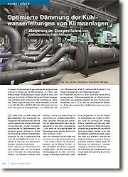 ob durch eine optimierte Dämmung der Rohrleitungen von Kühl- und Klimaanlagen Energieeinsparungen möglich sind und wenn ja, in welcher Größenordnung sich diese bewegen und inwiefern sich entsprechende Investitionen rentieren.