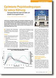Herkömmliche Kühlsysteme basieren auf Kompressions-Kältemaschinen (KKM), sind vollintegriert, günstig in der Anschaffung und einfach einzusetzen. Im Gegenzug dazu verursachen sie nicht zu unterschätzende Betriebskosten durch hohe Stromverbräuche. Solare  Kühlsysteme (SAC - Solar Air  Conditioning) stehen am Anfang der  Markteinführung, sind aus diversen  Einzelkomponenten zusammengesetzt und bei überschlägiger Betrachtung zu  teuer