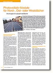 Verbesserte Photovoltaik-Erträge für unvorteilhafte Dächer
