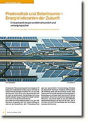 Erneuerbare Energien sind unerschöpflich: Sonnenstrahlung, Windenergie, Wasserkraft, Biomasse, Erdwärme. Mit Ausnahme der Erdwärme haben alle die Sonne als Quelle. Solarthermie und Photovoltaik wandeln die Strahlung direkt in Nutzenergie um und haben damit das höchste Potenzial aufzuweisen. Die Sonne ist die größte Energiequelle des Menschen. Jede Stunde liefert sie uns den weltweiten Jahresenergieverbrauch frei Haus auf die Erde - das ist ein Faktor von 8600! Die Solarenergie kann die Energieprobleme der Erde lösen.