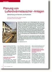 Relevante Normen und Richtlinien für die Auslegung von Luftwärmeaustauscher-Systemen