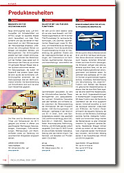 Produktneuheiten der Ausgabe 2006/2007: Alle Meldungen der Ausgabe zusammengefasst