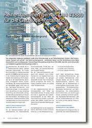Reihenklemmen nach DIN-43880 für die Gebäudeinstallation