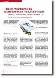Anordnung der Wärmezähler gemäß VDI 2077 Blatt 3.3