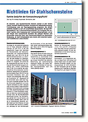 Richtlinien für Stahlschornsteine: Kamine bedürfen der  Kennzeichnungspflicht!