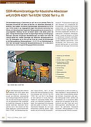 SBR-Kleinkläranlage für häusliche  Abwässer erfüllt DIN 4261 Teil II/EN 12566 Teil I u. III.