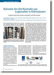 Vollautomatisches Legiolab® System soll Hilfe bei Legionellenerkennung leisten