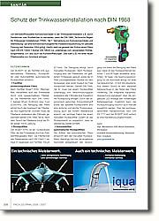 Schutz der Trinkwasserinstallation nach DIN 1988: Unabhängig vom verwendeten Rohrleitungsmaterial