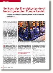 Leistungsanpassung von Pumpensystemen in Gebäudetechnik und Industrie