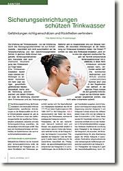 Gefährdungen der Trinkwassergüte richtig einschätzen und Rückfließen verhindern