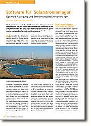 Software für Solarstromanlagen: Optimale Auslegung und Berechnung des Energieertrages