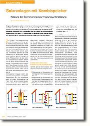 Solaranlagen mit Kombispeicher: Nutzung der Sonnenenergie zur  Heizungsunterstützung
