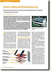 Solare Gebäudeklimatisierung: Nachhaltige Energienutzung durch Energy Management System mit  Baukernaktivierung