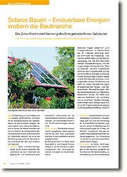 So wie das Energiesystem insgesamt vor einer massiven technischen Transformation steht, wird sich auch der Gebäudesektor fundamental verändern. Dabei steht neben einer drastischen Reduktion des Energieverbrauchs, insbesondere im Gebäudebestand, von Beginn an die Erzielung eines möglichst hohen Anteils vor Ort nutzbarer erneuerbarer Energien zur Deckung des verbleibenden Energiebedarfs im Fokus. Nur so kann der Bedarf an zeitlich begrenzt zur Verfügung stehenden Energieträgern zum Betrieb von Gebäuden ausreichend reduziert werden. Für Deutschland führt dies neben den positiven Effekten für die Umwelt zu einer signifikanten Reduktion der Abhängigkeit von internationalen Energiemärkten und bietet erhebliche Chancen zur Erschließung von Exportmärkten für die neu entwickelten Techniken und Konzepte.