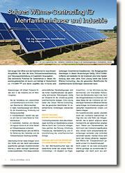 Das solare Wärme-Contracting, kann Markthürden für solarthermische Großanlagen überwinden.