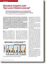 Standard-Angebot oder Top-Level- Modernisierung? Ehrlichkeit bei der Berechnung von Spareffekten durch Brennwerttechnik und Solare Modernisierung