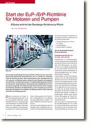 EuP- ErP-Richtlinie Effizienz wird mit der Ökodesign-Richtlinie zur Pflicht