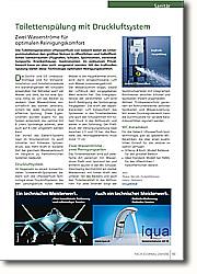 Toilettenspülung mit Druckluftsystem: Zwei Wasserströme für optimalen  Reinigungskomfort.