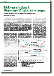Trinkwasserhygiene in Warmwasser- Zirkulationsleitungen: Thermische Desinfektion durch  hydraulischen Feinabgleich