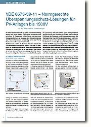 Innovative Schaltungskonzepte<br /><br /><br /><br /><br /> bei 1500V PV-Anlagen gefragt.