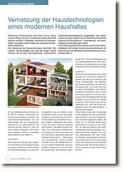Vernetzung der Haustechnologien erleichtert den Lebens- und Wohnalltag.