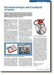 Volumenstromregler und Einstellgerät  als System: Individuelle Raumregelung bei hohem Komfort und geringem Verbrauch