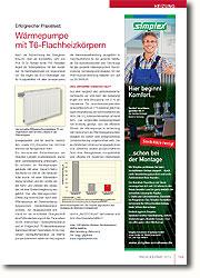 Das vorgestellte Sanierungs objekt hat eindeutig gezeigt, dass der effiziente Einsatz der Wärmepumpe in Verbindung mit Heizkörpern als Wärmeabgabesystem möglich ist, sofern eine entsprechende Dimensionierung vorgenommen wird.
