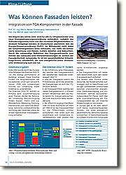 Integration von TGA-Komponenten in der  Fassade: Mit Beginn des Jahres 2006 wird für  alle EU Mitgliedsländer eine neue  Energieeinsparungsverordnung  verbindlich. Lediglich das  Anforderungsniveau kann von den  einzelnen Mitgliedsländern individuell  festgelegt werden; in Deutschland  übernimmt dies die Energie- Einsparverordnung (EnEV).