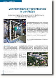 Modernisierung der Lüftungstechnik eines Großklinikums auf aktuellsten Stand der Technik