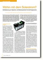 Die Bedeutung von Speicher- und Batteriesystemen für die Energiewende