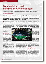 Wohlfühlklima durch moderne  Tribünenheizungen: Gasinfrarotstrahler wärmen modernste Fußballstadien der Welt