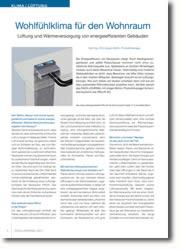 Lüftung und Wärmeversorgung von energieeffizienten Gebäuden