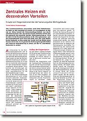 Zentrales Heizen mit dezentralen Vorteilen: Einsatz von Etagenstationen bei der Sanierung alter Wohngebäude, Schornsteinfeger-Gebühr