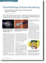 Polymer Optische Faser (POF) als Grundlage für DATALIGHT® System