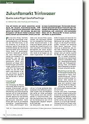Zukunftsmarkt Trinkwasser: Quelle zukünftiger Geschäftserfolge