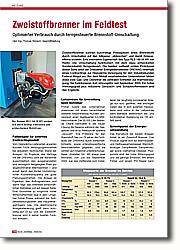 Zweistoffbrenner im Feldtest: Optimierter Verbrauch durch  ferngesteuerte Brennstoff-Umschaltung