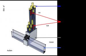 PCM in der Fassade Systemschnitt