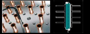 Abb.6b  Heizstabrohr (Küba) mit formschlüssiger Verbindung zur Lamelle