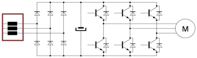 Anschluss einer AC-Netzdrossel