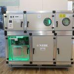 Durch ein Abluftaggregat mit integriertem Wärmepumpenmodul wird Wärme aus der Abluft zurückgewonnen.